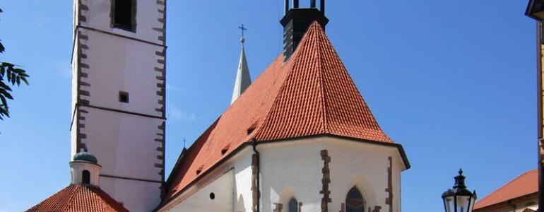 Věž děkanského kostela Narození Panny Marie - Písek