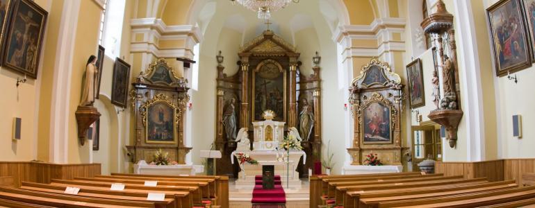Oltář boční P.Marie Růžencové - Dobratice