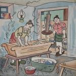 Na malé výstavě v zámecké kapli bude k vidění i malba Josefa Lady Den prádla za starých časů